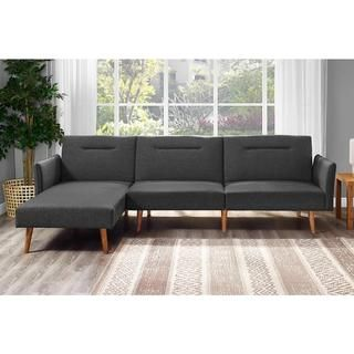 DHP Brent Linen Futon & Chaise - 20099958 - Overstock.com Shopping - Great Deals on DHP Futons