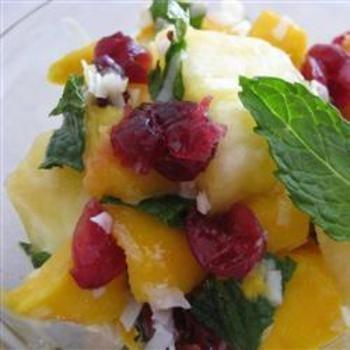 Mango Pineapple Salad with Mint