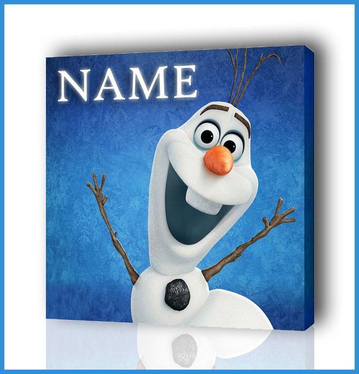 PERSONALISED DISNEYS OLAF / FROZEN CANVAS PICTURE PHOTO PRINT BOX FRAMED CANVAS