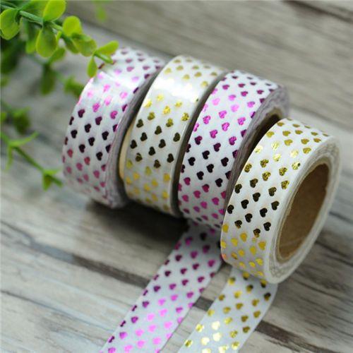 Metallic-Gold-Washi-Tape-Scrapbooking-Craft-DIY-paper-Sticky-Adhesive-Sticker