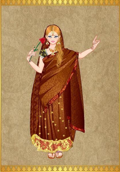 Princesa Alexandra en traje Indu