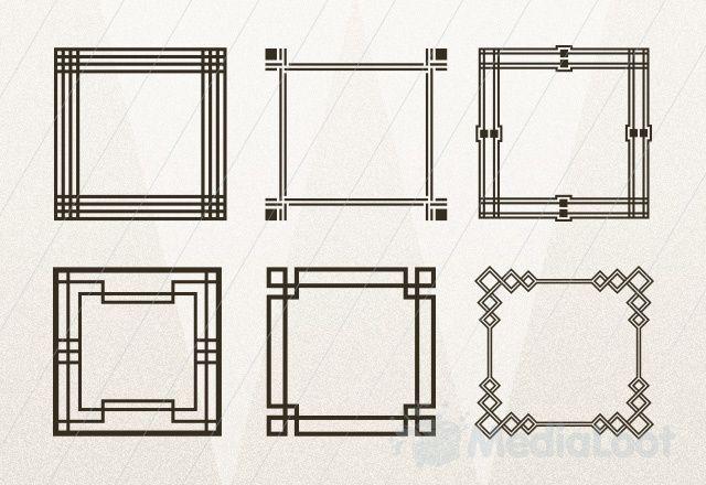 Geometric Art Deco Frames 3