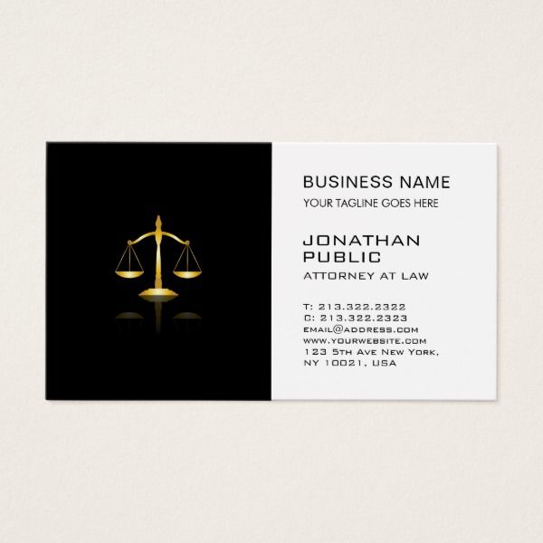 Attorney At Law Office Lawyer Justice Logo Plain Business Card