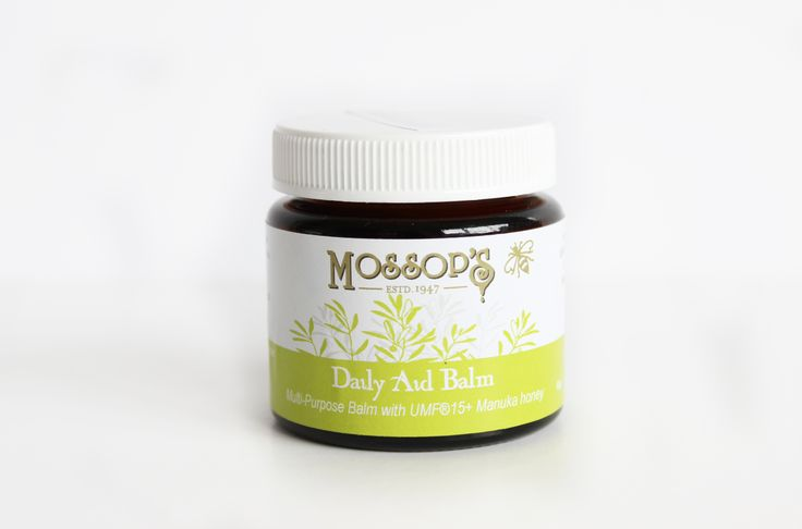Mossops Daily Aid Balm is a multi-purpose balm that aids the healing of mild burns, cuts, grazes  dry, cracked skin. It is also suitable for soothing itchy skin, Eczema, sunburn, itchy bites  whitloes