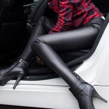 2017 años de Capris de Las Mujeres Pantalones de Invierno Cálido & PU de Cuero Grueso Terciopelo Stretch Delgado Lápiz Pantalones Pantalones Más El Tamaño CP2A(China (Mainland))