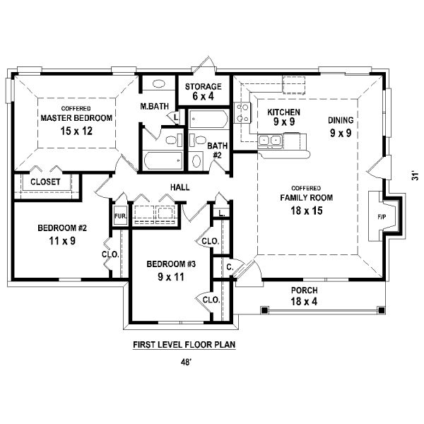 Image Result For Simple 3 Bedroom House Plans Without