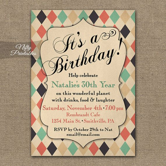 7 best 95 birthday images on Pinterest Birthday party ideas - fresh invitation wording for trunk party