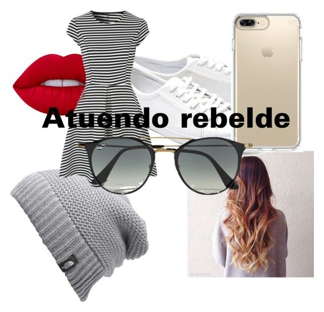 """Atuendo rebelde"" by fianna-dominguez on Polyvore featuring moda, Lacoste, Speck, The North Face y Ray-Ban"