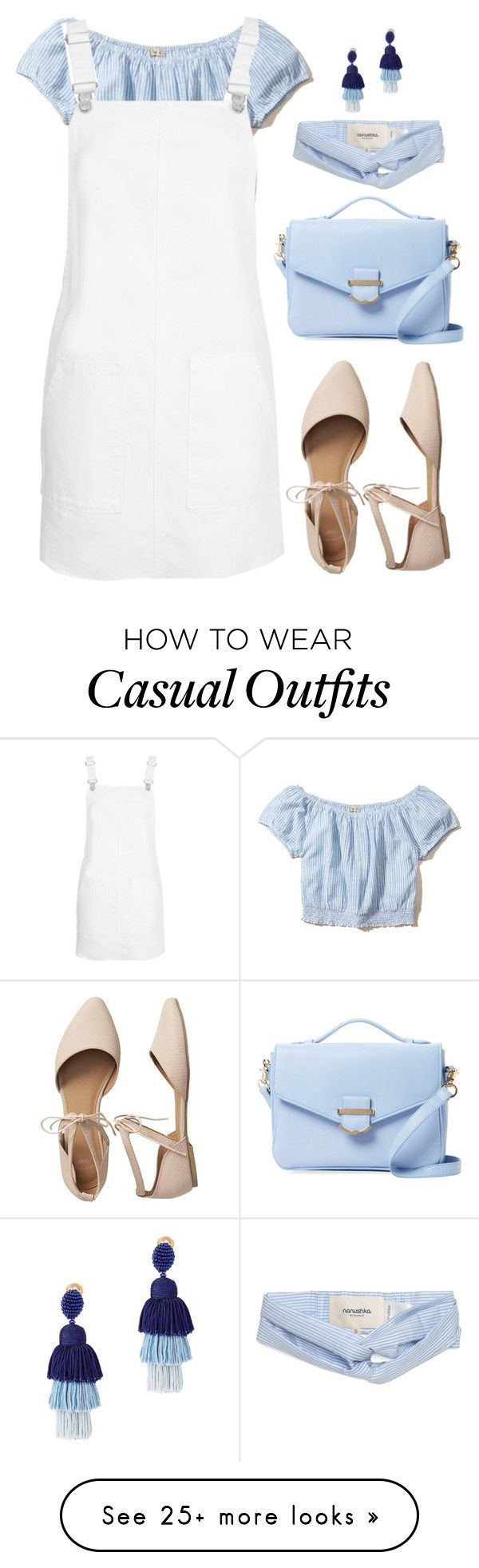 """casual look for today"" by kikyxoxo on Polyvore featuring Hollister Co., Topshop, Gap, Cynthia Rowley and Oscar de la Renta"