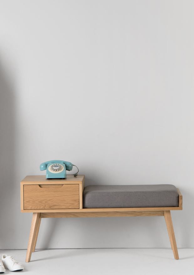 Jenson Storage Bench, Oak