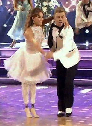 "Derek Hough & Amy Purdy danced a jive routine to ""Shout ..."