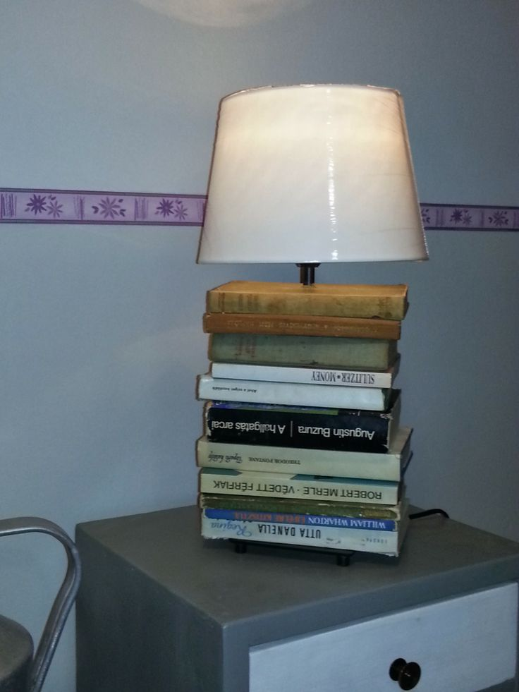 The ikea lamp that grew out of old books