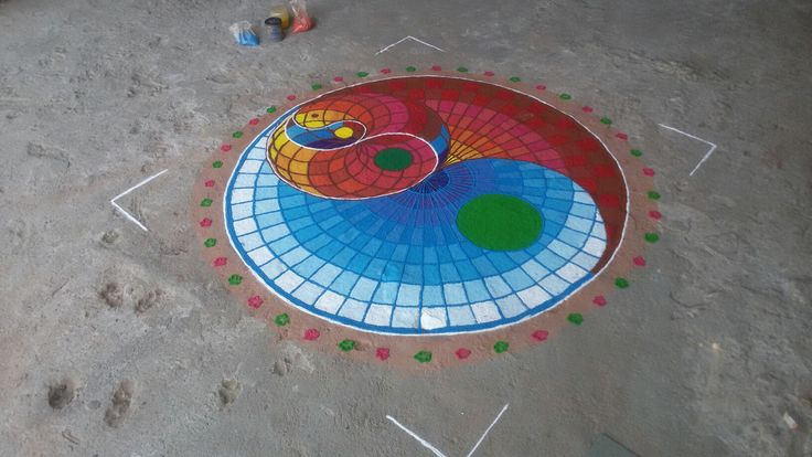 #diwali #2k16 #rangoli #geometricdesign #conceptpanchtatv