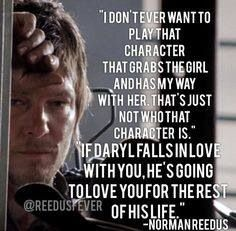 Norman Reedus as Daryl Dixon from The Walking Dead <3