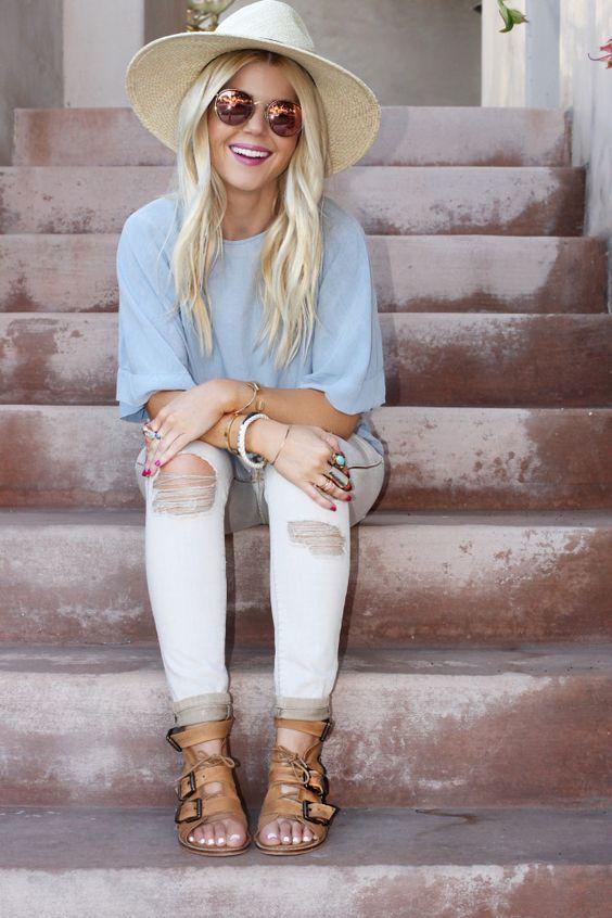10 Ideas para usar jeans blancos sin parecer enfermera                                                                                                                                                                                 More