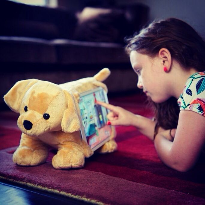 100 degrees outside?  Stay indoors with Goldie. She's a great companion for Minecraft and YouTube!  www.tabbeez.com