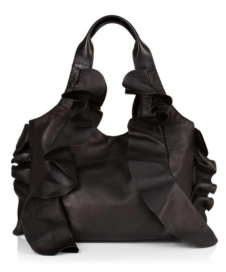 Valentino Large frills bag in black, Designer Bags Sale, Valentino bags & accessories , Secret Sales