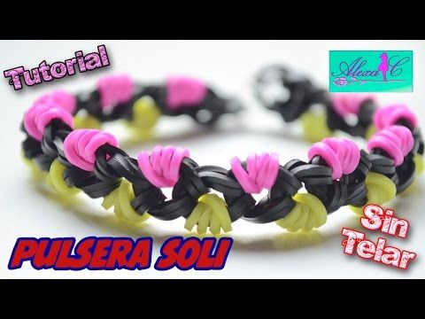 ♥ Tutorial: Pulsera Soli de gomitas (sin telar) ♥ - YouTube