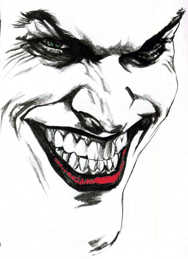 Black and white Joker art