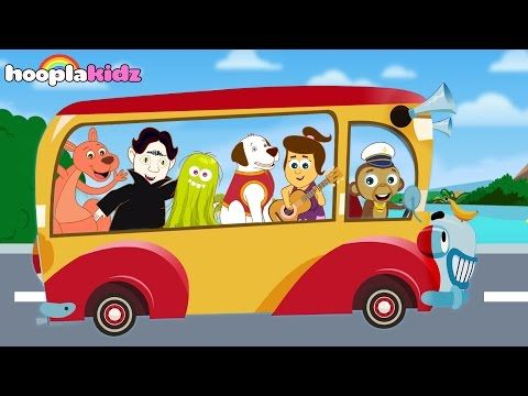 Wheels on the Bus - All Nursery Rhymes Videos | 40 Minutes Compilation from HooplaKidz - YouTube