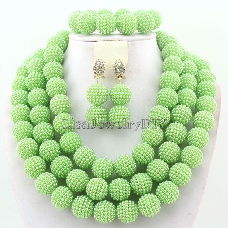 Мода африканских ювелирные изделия бусины ожерелье комплект нигерии свадебные индийские бусины ювелирные комплект HD3272