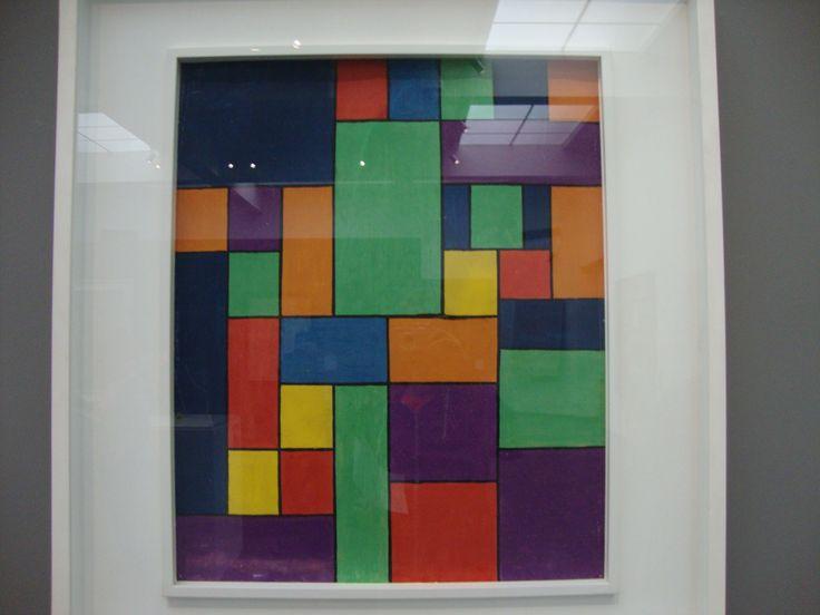 dit schilderij is liniair want de lijnen bepalen het beeld.