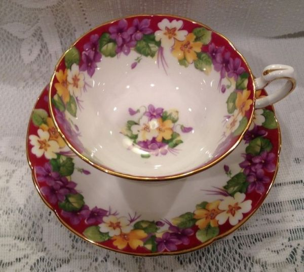 Vintage PARAGON Fine Bone China Tea Cup & Saucer - English by chandra