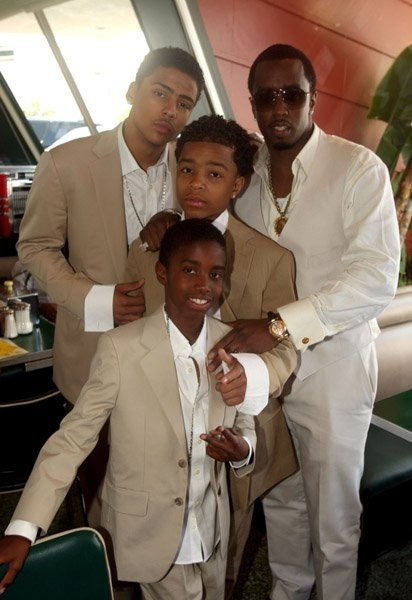 diddy and his sons christian justin and quincy al b sures son