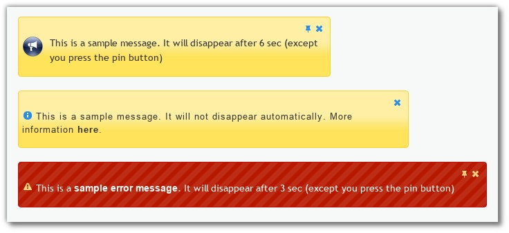 jui_alert is a jQuery plugin, provides simple notification (with timeout and close button). jQuery UI themes compatible. Localization support.