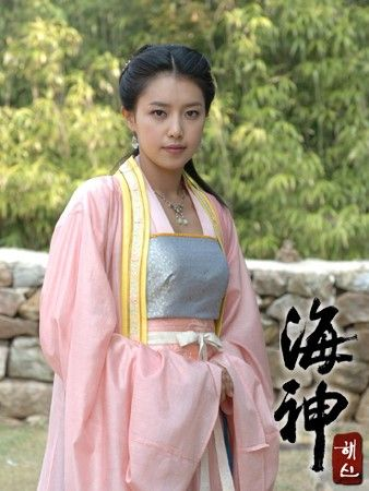 """Emperor of the Sea (Hangul: 해신; RR: Hae-sin; literally """"Sea God"""") is a 2004 South Korean television drama series starring Choi Soo-jong, Chae Shi-ra, Song Il-gook and Soo Ae. It aired on KBS2 for 51 episodes. The period drama is based on Choi In-ho's 2003 novel Hae-sin, which depicts the life of Jang Bogo, who rises from a lowly slave to a powerful maritime figure who dominated the East Asia seas and international trade during the Unified Silla Dynasty. 채령 채정안"""
