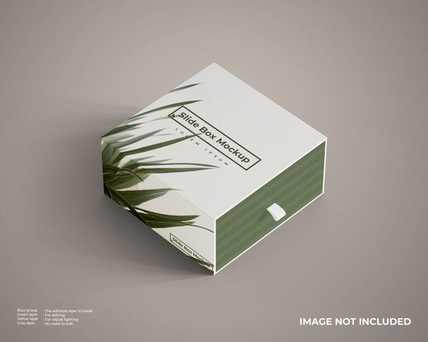Download Close Up On Slide Box Mockup Isolated Box Mockup Slide Box Modern Business Cards Design