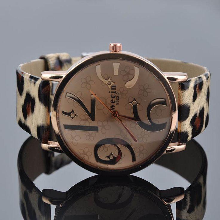 Big Number Women Watch 2015 Brand New Quartz Watch PU Leather *41