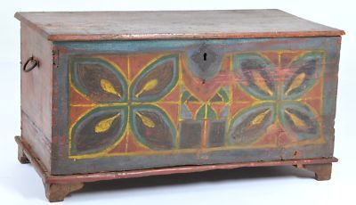 Antique Pennsylvania Dutch child's painted chest 1840