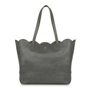 Grey Scallop Edge Shopper