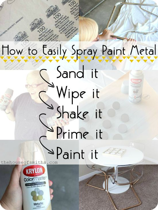 spray paint metal do pinterest painting metal home projects and. Black Bedroom Furniture Sets. Home Design Ideas
