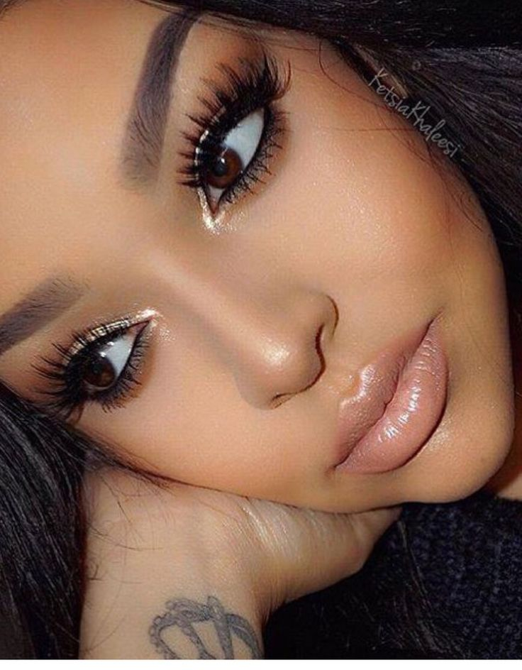 Deep olive skin tone makeup