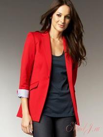 Женский пиджак красный купить
