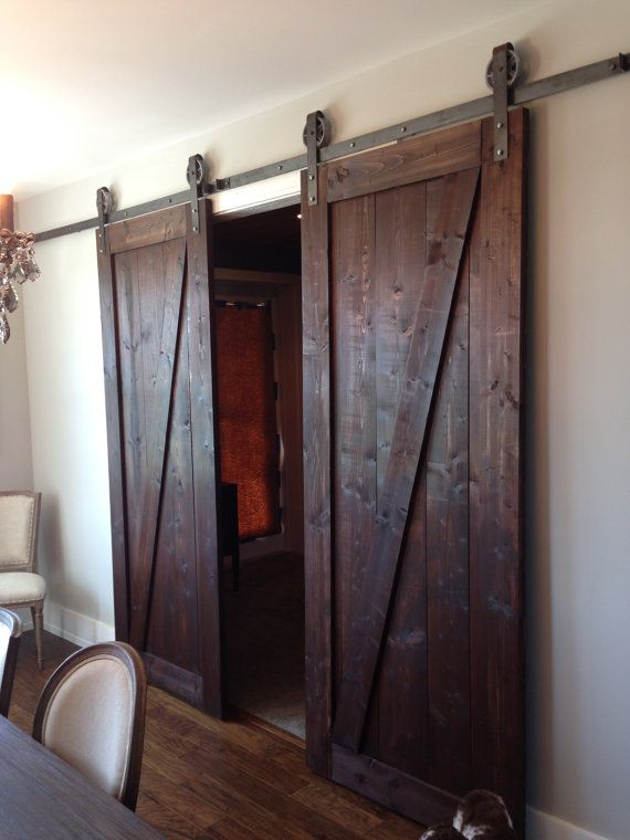wooden barn door unique handmade interior rustic doors