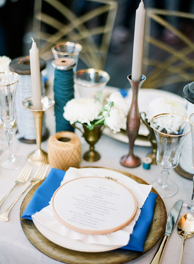 Handmade+Blue+and+Gold+Wedding+Inspiration+ +The+Experience+2013