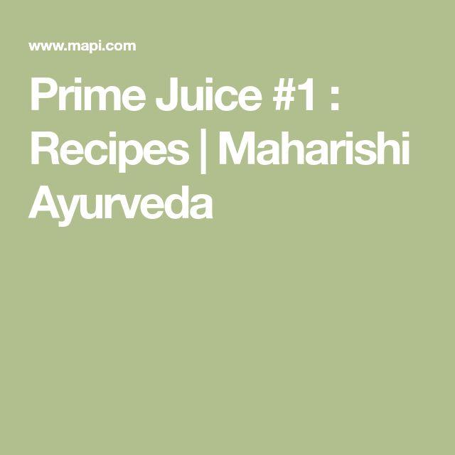 Prime Juice #1 : Recipes | Maharishi Ayurveda