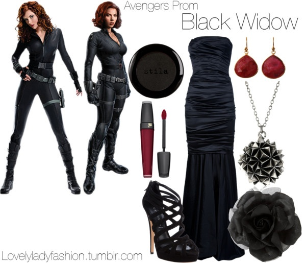 """Avengers Prom - Black Widow"" by nearlysamantha on Polyvore"