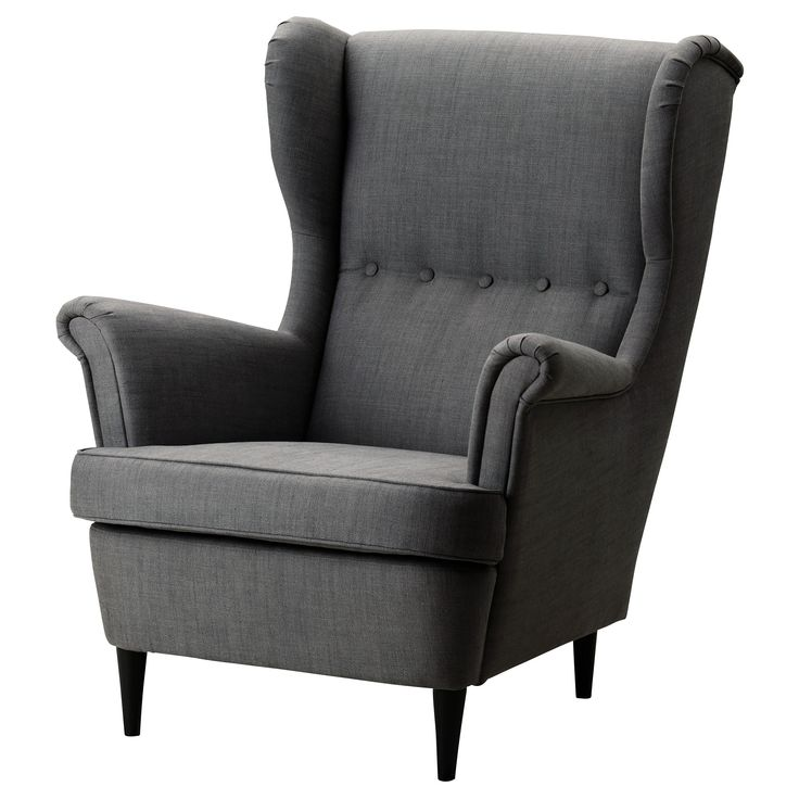 $279 Well hello....STRANDMON Wing chair - Svanby gray - IKEA