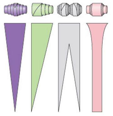 * Verschillende vormen om papieren kralen te maken