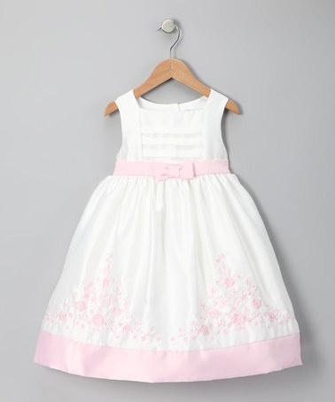 Take a look at this Ivory & Pink Rose Garden Dress - Toddler by Donita on #zulily today!: Rose Gardens, Pink Roses, Roses Garden