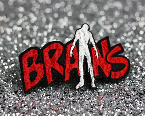 Brains Hair Clip, Zombie Brains, Red and White on Etsy, $20.55