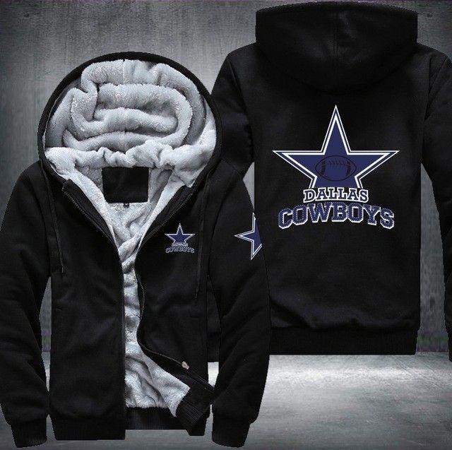 on sale f589c b992b 4XL Unisex Black Football Dallas COWBOYS Print Logo Custom ...