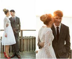 Great looking short wedding dress idea