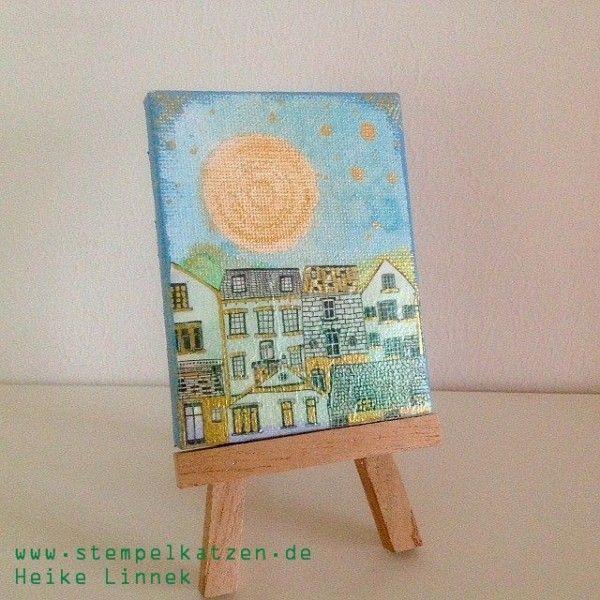 Mini Leinwand Stadt - little canvas city