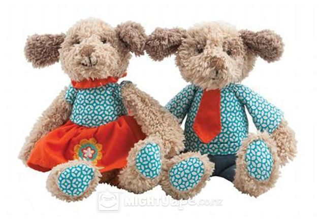 Lily & George Labradoodle Rattle Set