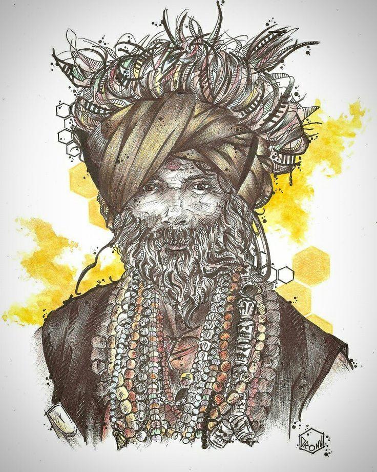 """""""Indian man"""" by DRONN"""